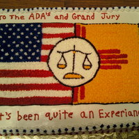Scales Of Justice My client served on the grand jury and wanted to bring them a cake to say thank you. All BC frosting and decorations. US flag and State...
