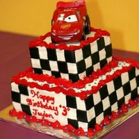 Lightning Mcqueen  This was my first time cutting and pasting squares out of mmf. Worked better than I thought. Top tier is choc version of WASC and the...