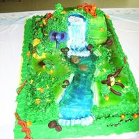 Rainforest rainforest for baby shower...BIG baby shower. fondant animals, buttercream, airbrushed, blue piping gel for water:) FUN!!