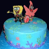 Spongebob Birthday Spongebob, Patrick and Gary made from Chocolate, decorations in BC