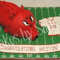 3D Arkansas Razorback Cake This cake was for Weston Dacus' NFL Draft party.