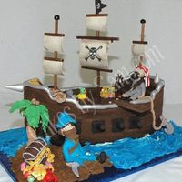 3D Pirate Ship Birthday Cake 3D Pirate Ship Birthday Cake
