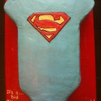 Superhero Onesie This is a cake i made for my best friend's baby shower. Her nursery theme is superheros and her hubby's fav is superman. I got my...