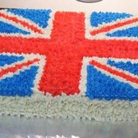 Union Jack   One of my friends is obsessed with England....so for her birthday I made this Union Jack cake....she loved it!!