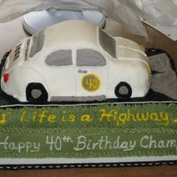 Vw Bug This cake was for a guy who had a VW bug in high school