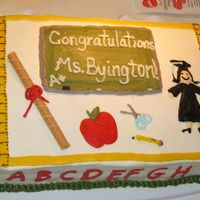 Graduation Cake For Teacher