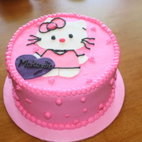 Hello Kitty FCFK (Free Cakes for Kids) birthday cake I made for a little girl's 4th birthday. She was so excited!