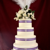 Touch Of Victorian With Butterflies My most favorite of all the cakes I have done :)