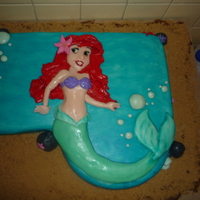 A Very Little Mermaid Birthday! My cohort and I made this today for our very first (paid) client! Hoorah! It's for a 4th birthday party, with a mermaid theme. So, we...