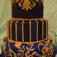 Blue, Black, & Gold I made this cake as practice for myself. I experienced a loooooot of frustrations, but being my first cake of this sort, I'm pretty...