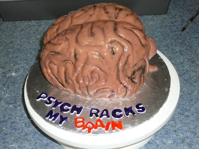 Brain Cake! I made this cake for my psychology class...I told my teacher I would bring a cake for the last day of class, but I don't think she...
