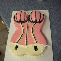 Bustier Cake This is a cake that I made for my first official event - a bachelorette party! All of the decorations are cream cheese frosting, very...