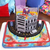 Superman Metropolis Cake This is a cake done for a close friend's child based for his Superman birthday party. This is was inspired by the spiderman cake from...