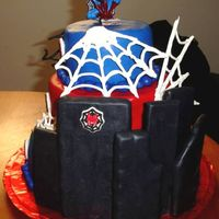 Spiderman This is my first tiered cake that I made for a little boys birthday. My inspiration came from shelleylynn. The cake is all chocolate (I...