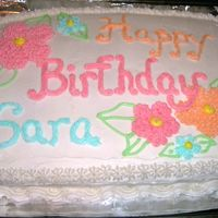 Hibiscus Cake Just a cute cake for a per-teen girl birthday.