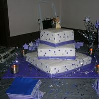 Periwinkle, White With Stars Cake Though I really didn't like this cake at all, it was designed by the bride and she really liked it. It was my first attempt at a large...