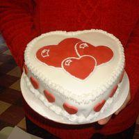 Valentine's Day Heart Heart cake I made for a co-worker for her husband for Valentine's Day.