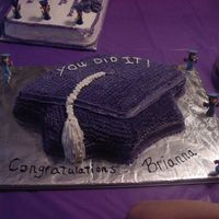 Dsc00568.jpg Made this one for my Daughter's kindergarten graduation. It is a chocolate cake with chocolate mousse filling and buttercream frosting...