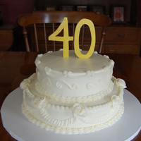 40Th This was a replica of the bottom 2 tiers of their original wedding cake.