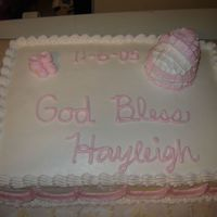 Baptism Cake W/ Bassinett cake for baby girl baptism with a bassinett make out of cupcakes