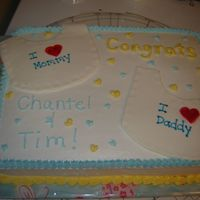 Baby Bib Cake shower cake for a lady having twin boys. Fun cake to do!