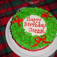 Wreath Birthday Cake this cake was for my grandmother's birthday, which is Dec. 23