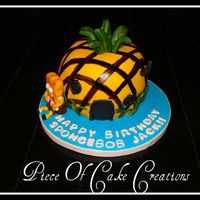 Spongebob Square Pants Carved cakes to look like pineapple house for a little boy who loves spongebob