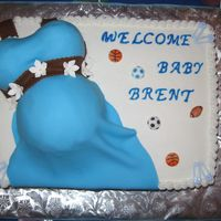 "Belly Cake This was another belly cake for a family member. she wanted the ""boobs"" big on this one!!"