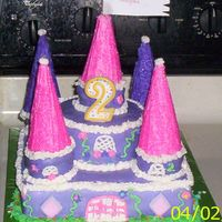 Castle Cake made this cake for my daughters second birthday, first cake i have decorated in about 8 years.