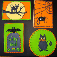 Halloween Cookies Halloween cookies inspired by some rubber stamps. TFL
