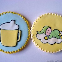 Baby Cookies Royal icing transfers. They always break on me!! TFL