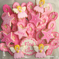 Breast Cancer Awareness Cookies I made these for our local Breast Care Center. TFL