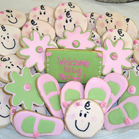 New Baby Girl Cookies Made a tray of cookies for a baby shower at church. TFL