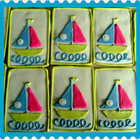 Cookies For Baby Shower I made some sailboat cookies for a baby shower. TFL