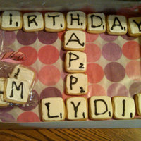 Scrabble Anyone? I made these for a friend who loves Scrabble. Can't go to here house without here pulling out the box. I saw the on Bake at 350 and...