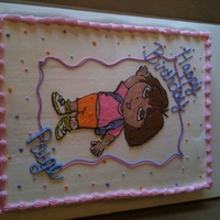 Dora & Boots  For a 1st Birthday! Dora is a FBCT and Boots was just hand drawn on (I forgot about him so no FBCT). Everything is BC. Comments are...