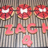 Spiderman Cookies These cookies were the goodies for his birthday party. The name went on his cake.