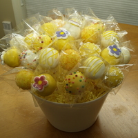Lemon Birthday Cake Pops Yum Yum :-)