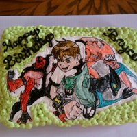 Ben 10 Ben 10 Cupcake cake, buttercream transfer, hand painted