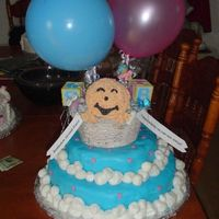 Shower Cake For Adopted Baby This cake was in the Wilton's 2002 yearbook.I have always wanted to try it. I did make some modifications to it due to time...