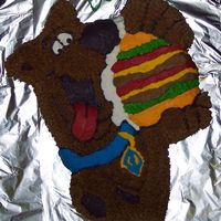 Scooby Doo Cake Wilton Scooby Doo Pan with buttercream