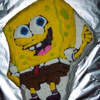 Sponge Bob Cookie Cake Wilton Sponge Bob pan but I made a chocolate chip cookie and decorated with buttercream.