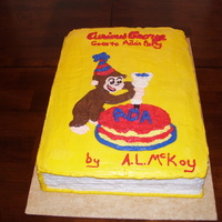 Curious George Goes To Ada's Party Book Did this for a little girls 2nd birthday.