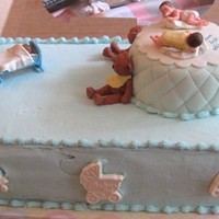 Baby Shower This is a cake i did for my daughter-in-laws baby shower I don't do many cakes just a hobby i am learning hopefully i am getting...