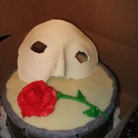 Drum Cake With Phantom Cake And Rose   Rose began to melt in my HOT kitchen, but the gal LOVED it.