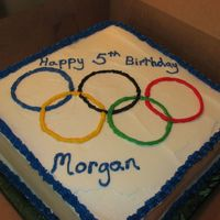 Olympic Theme Cake   Bday boy loved the olympics I guess!