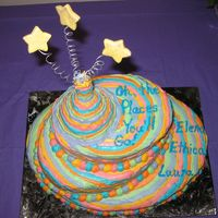 Seuss - Oh, The Places You'll Go! Cake After much debate, I just decided to do the cake with regular icing, just adding it like ribbon. It was for three graduates. So instead of...