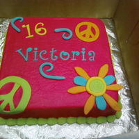 Victoria   Buttercream base fondant accents