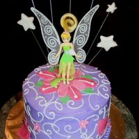 Tinker Bell This was done for my daughter's 5th birthday to coordinate with her napkins. Buttercream icing with fondant accents. My first...
