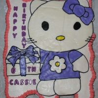 Hello Kitty Cupcake Cake  I made this for my daughters birthday to take to school. This one gave me a hard time but my daughter and her classmates liked it. I...